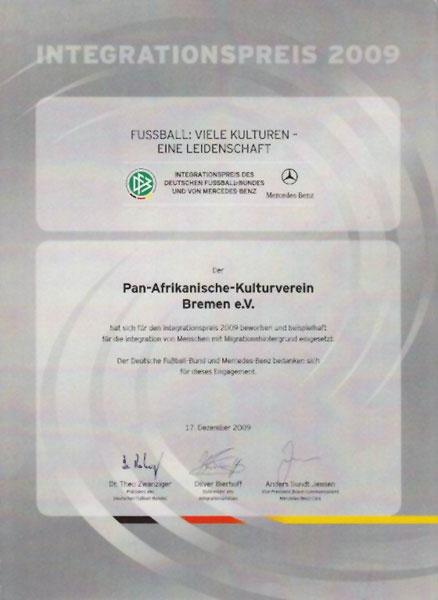 Integrationspreis Deutscher Fußballbund 2009