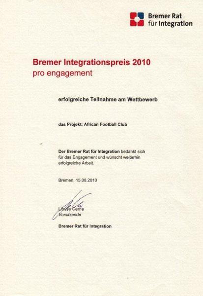 Bremer Integrationspreis 2010