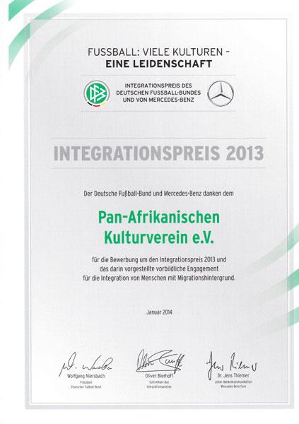 Integrationspreis DFB Mercedes